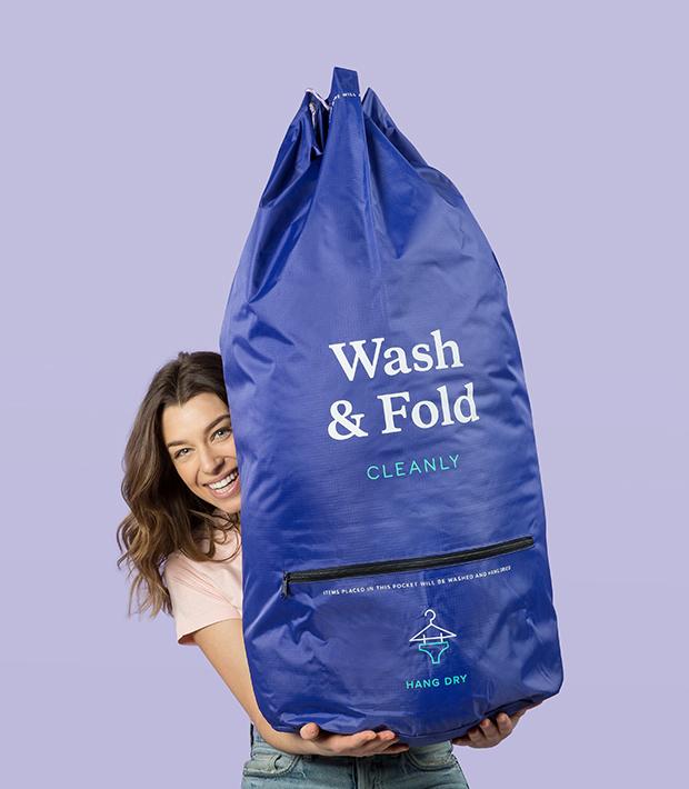 woman holding bag