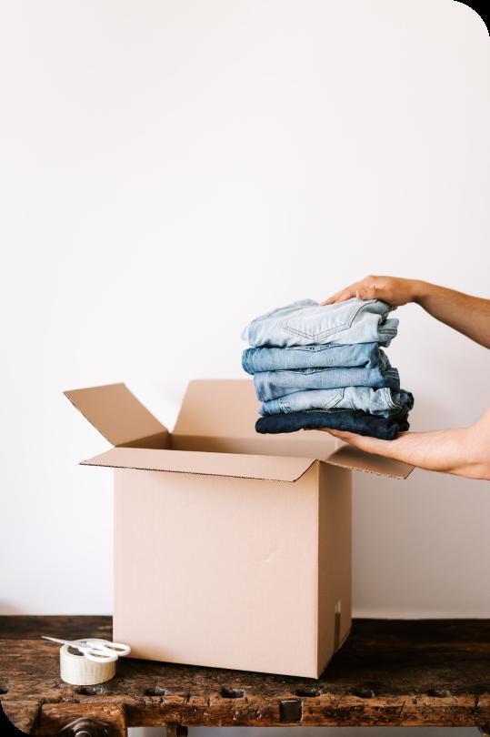 cloths in a box